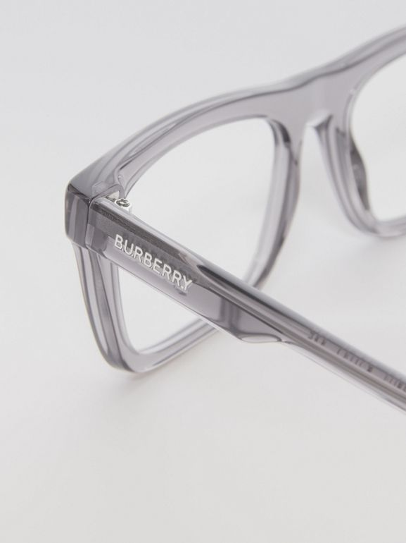 Rectangular Optical Frames in Grey - Men | Burberry Australia - cell image 1