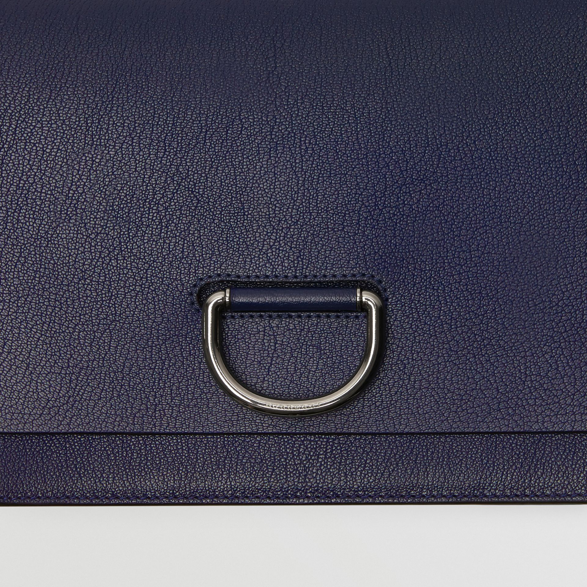 The Medium Leather D-ring Bag in Regency Blue - Women | Burberry Australia - gallery image 6