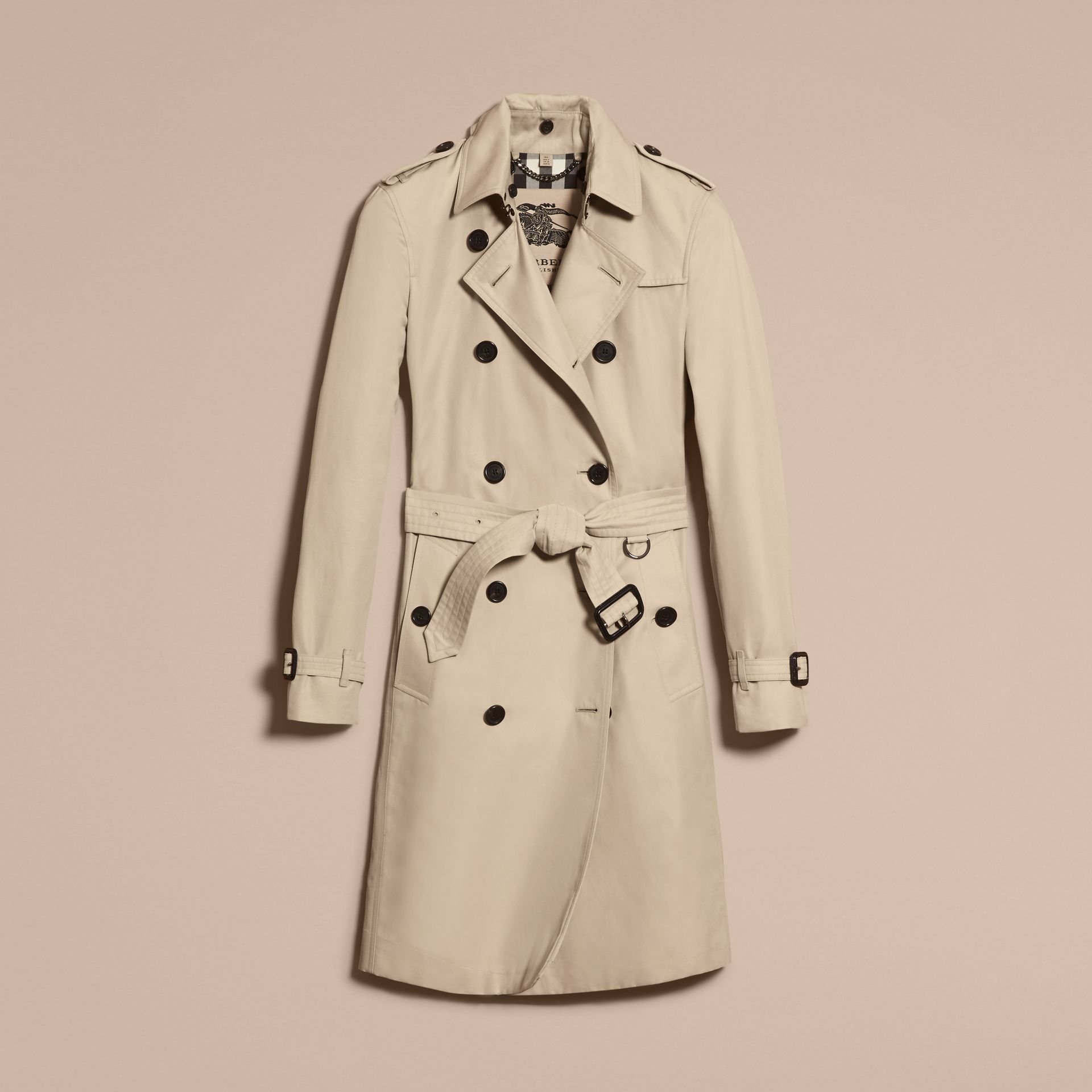 Stone The Kensington – Long Heritage Trench Coat Stone - gallery image 4