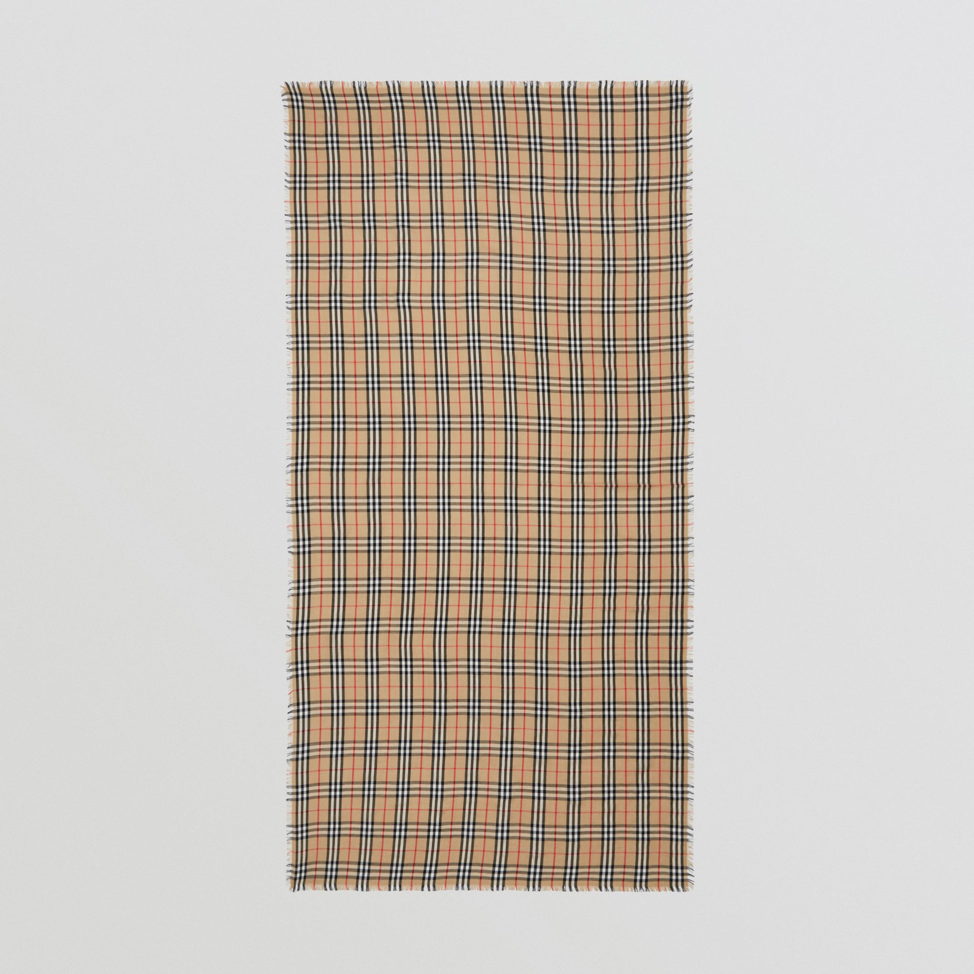 Vintage Check Lightweight Cashmere Scarf in Archive Beige | Burberry - gallery image 4