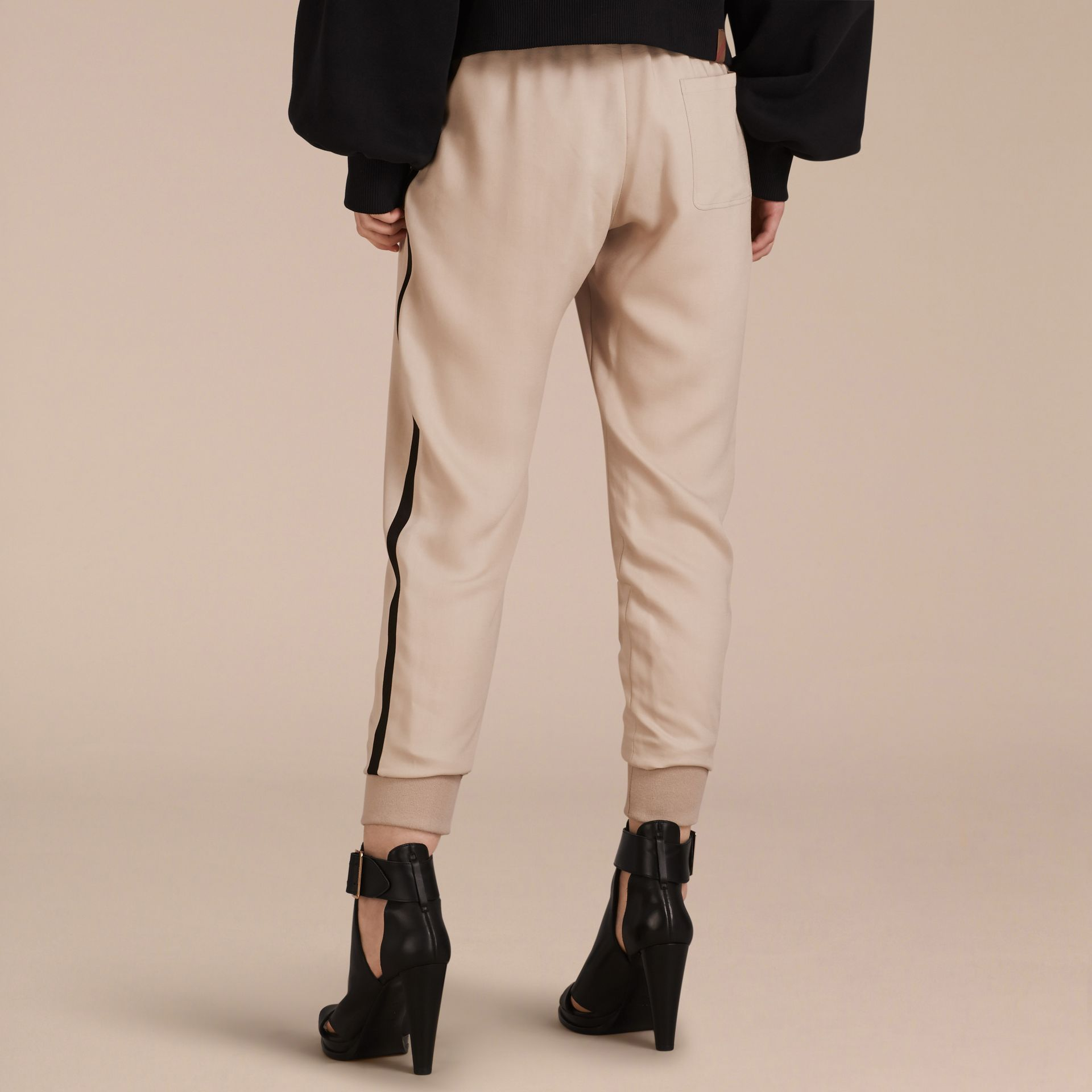 Stone Zip Detail Jersey Sweat Pants Stone - gallery image 3