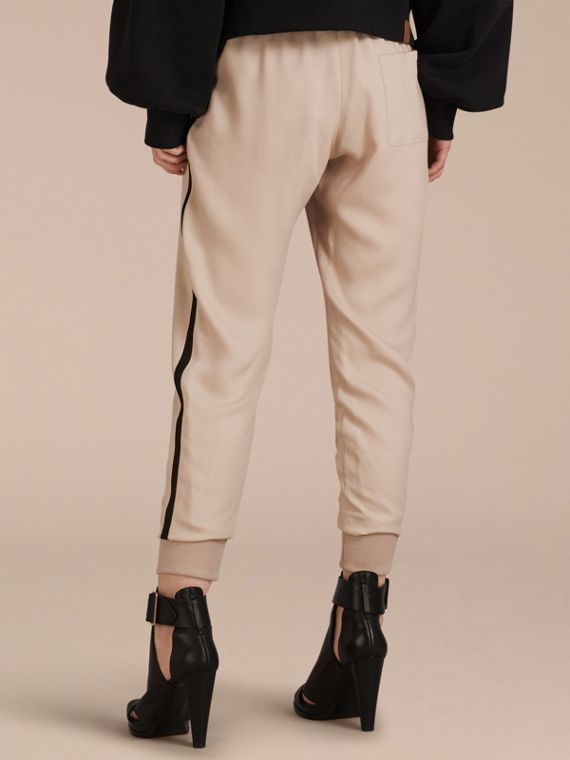 Zip Detail Jersey Sweat Pants in Stone - cell image 2
