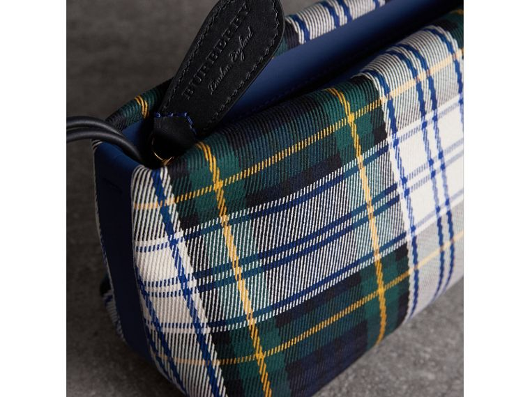 Tartan Cotton Clutch in Ink Blue/bright Yellow | Burberry Australia - cell image 1