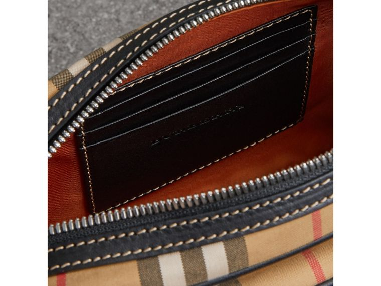 Vintage Check and Leather Crossbody Bag in Clementine | Burberry United States - cell image 4