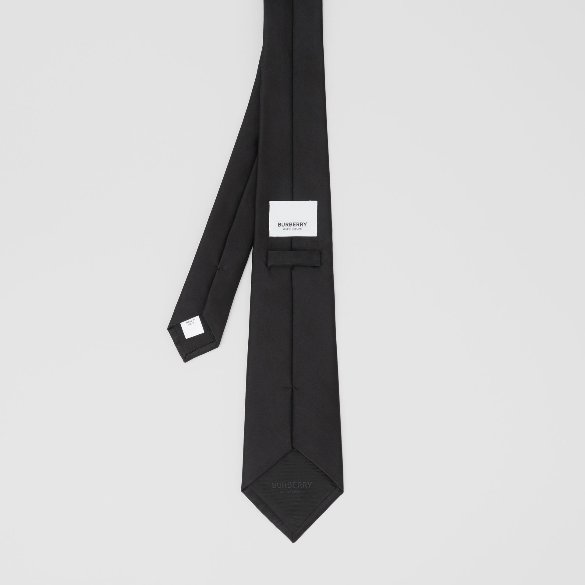 Classic Cut Silk Tie in Black | Burberry United States - gallery image 4