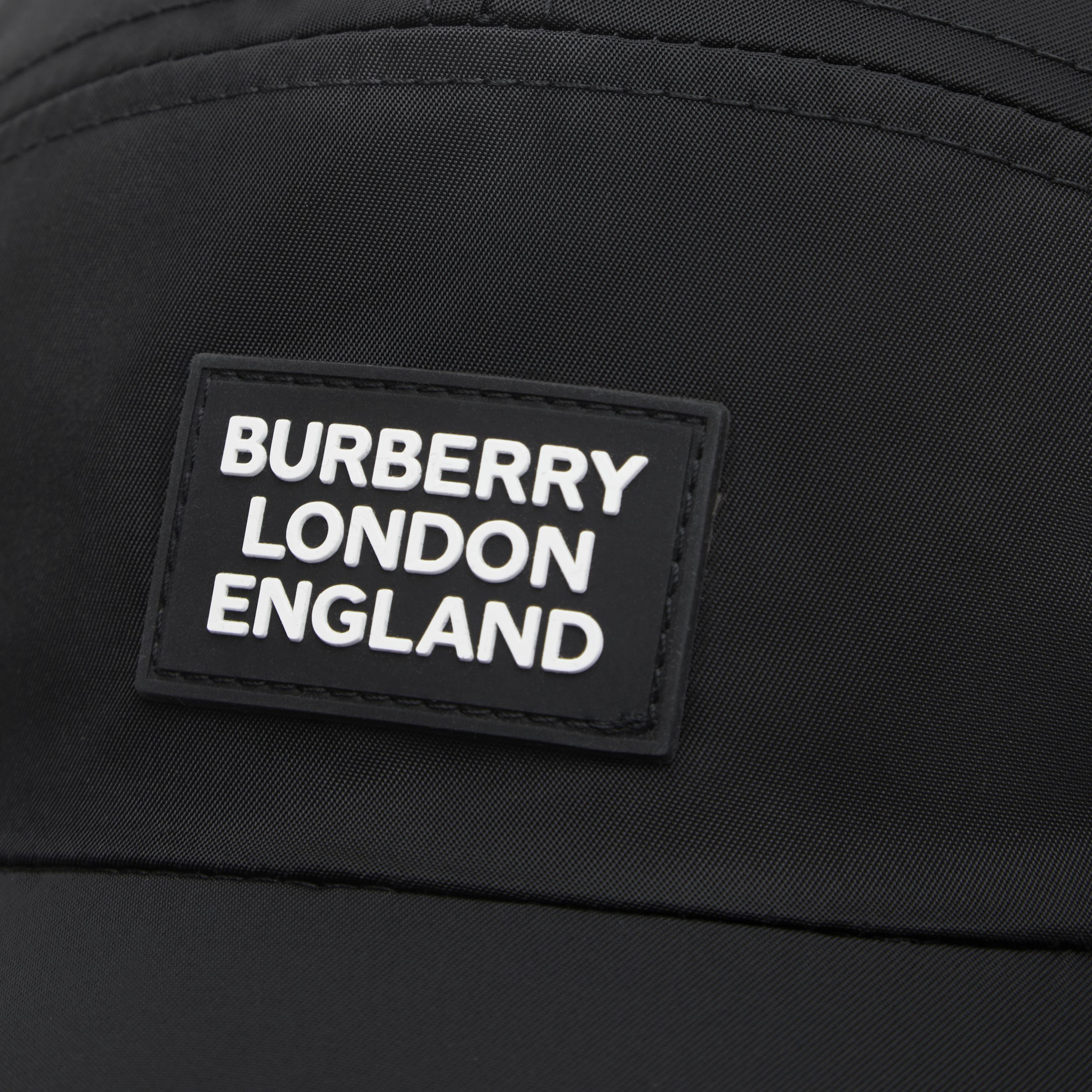 Logo Appliqué Cotton Twill Bonnet Cap in Black | Burberry - 2