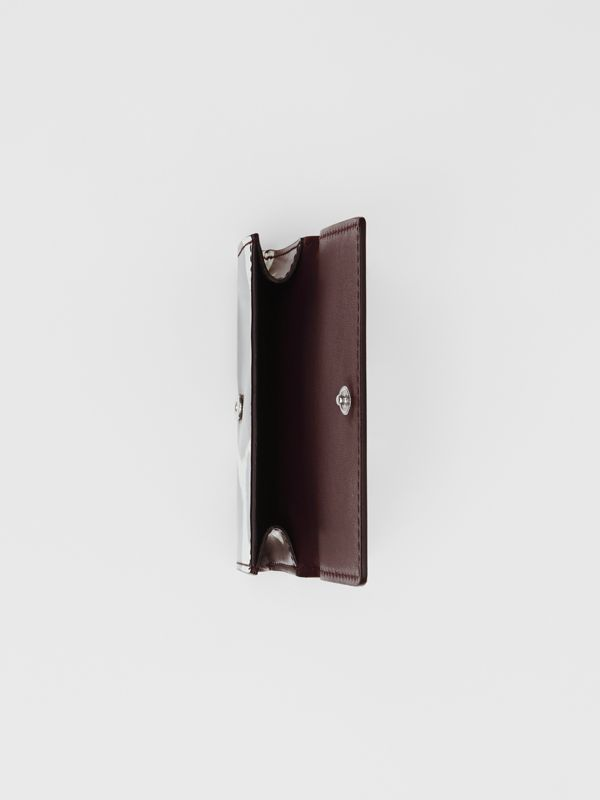 Small Cow Print Leather Folding Wallet in Malt Brown - Women | Burberry - cell image 2