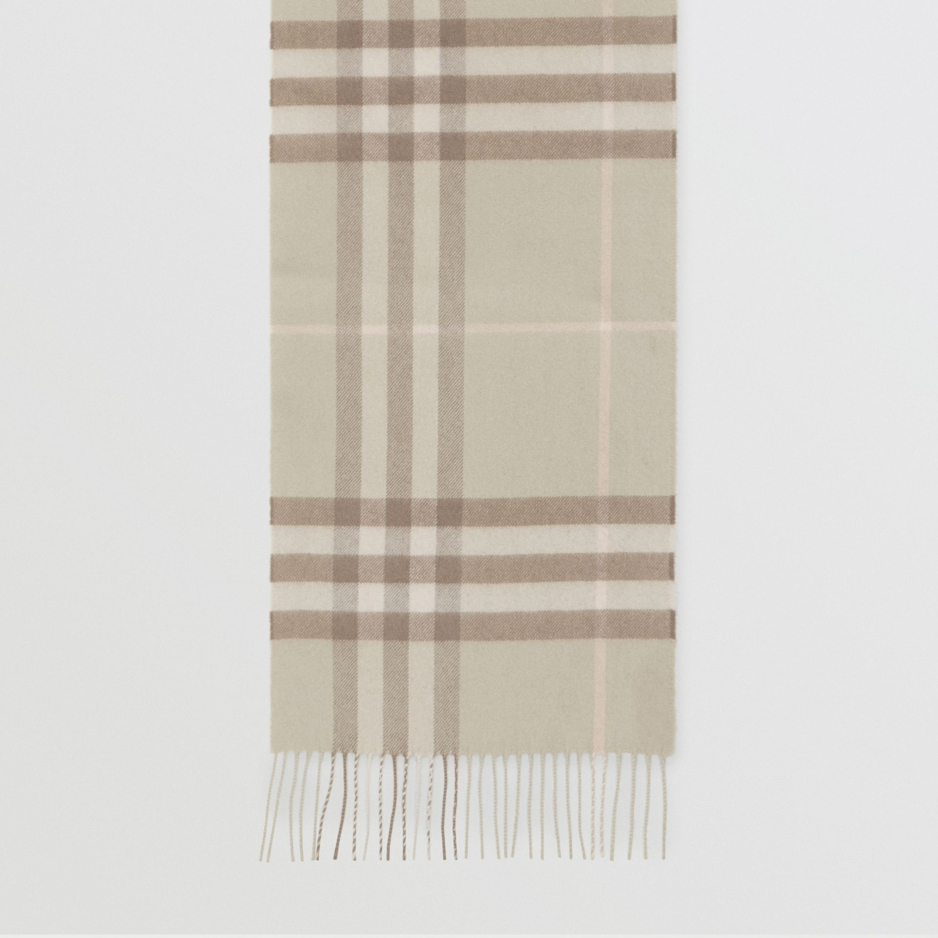 The Classic Check Cashmere Scarf in Green | Burberry Singapore - gallery image 2