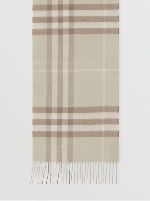 The Classic Check Cashmere Scarf in Green | Burberry Singapore - cell image 2