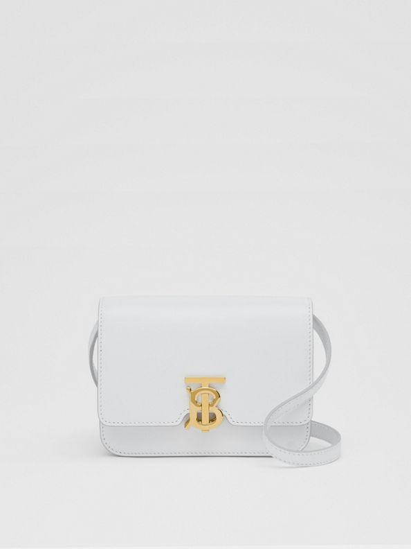 Mini Leather TB Bag in Optic White