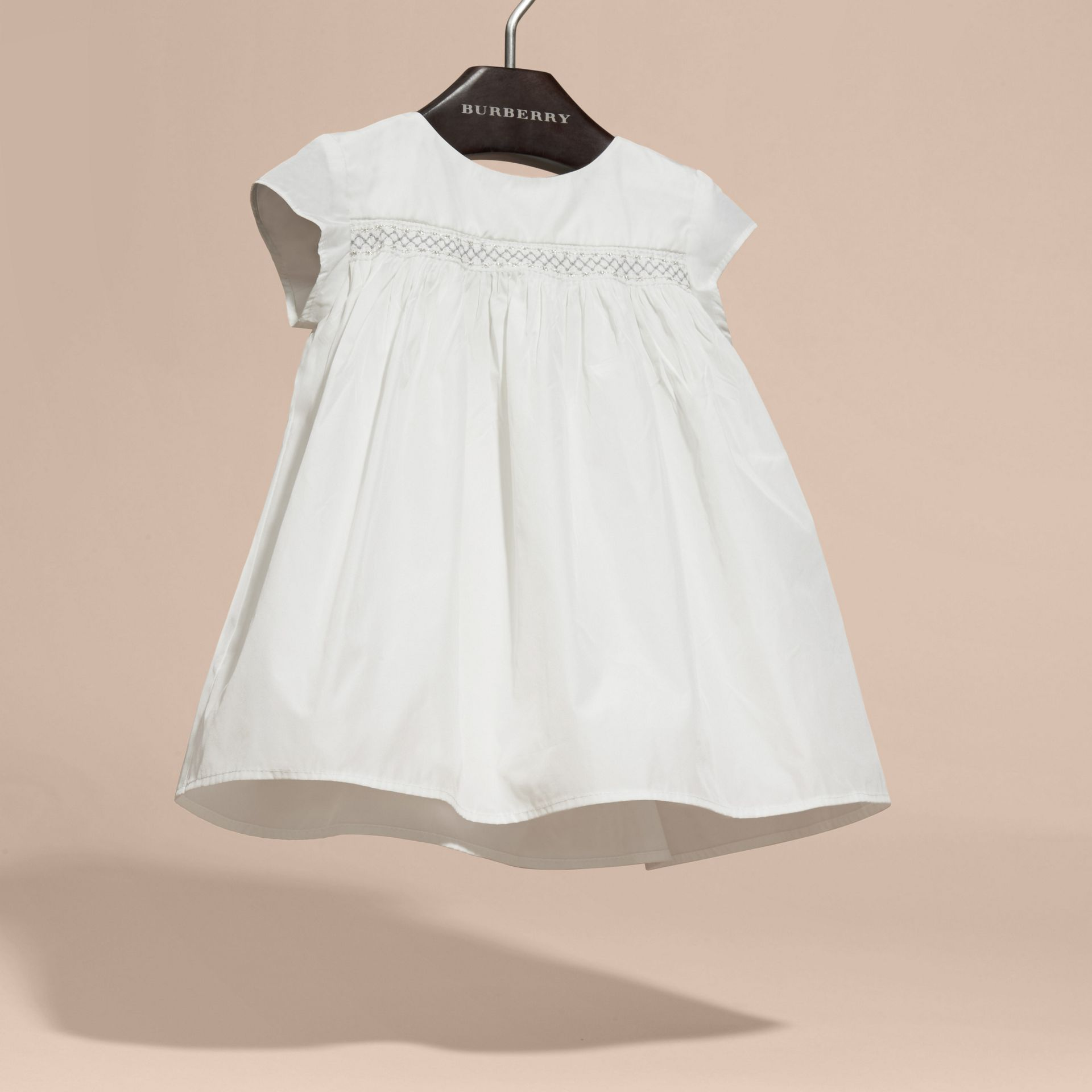 White Embroidered Taffeta Dress with Bloomers - gallery image 3