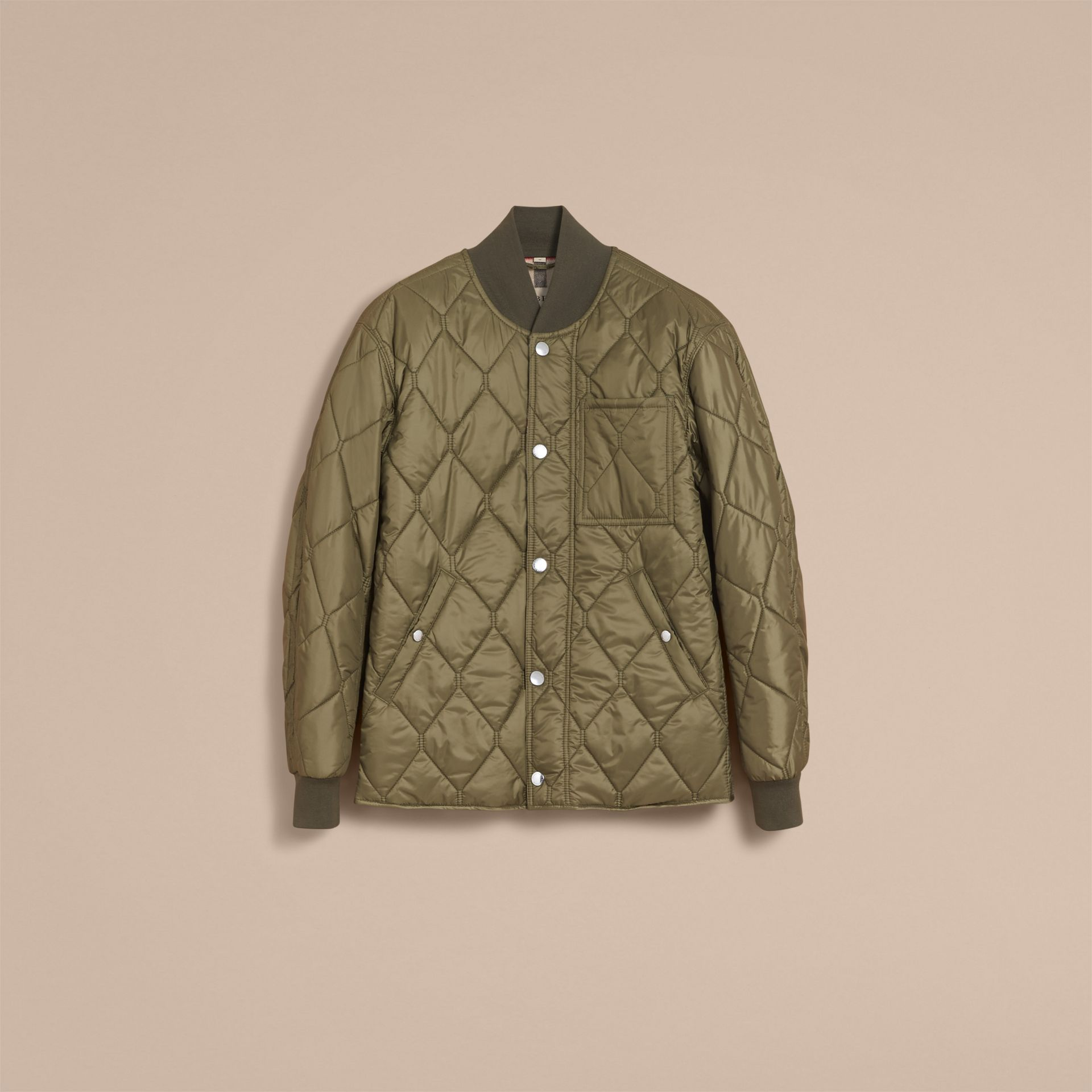 Quilted Bomber Jacket in Khaki - Men | Burberry - gallery image 4