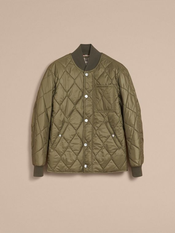 Quilted Bomber Jacket in Khaki - Men | Burberry - cell image 3
