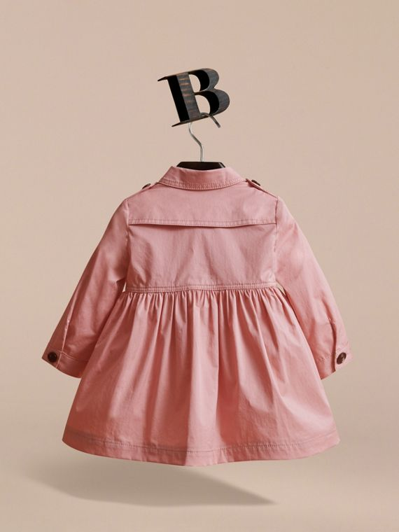 Stretch Cotton Trench Dress in Pale Rose | Burberry - cell image 3