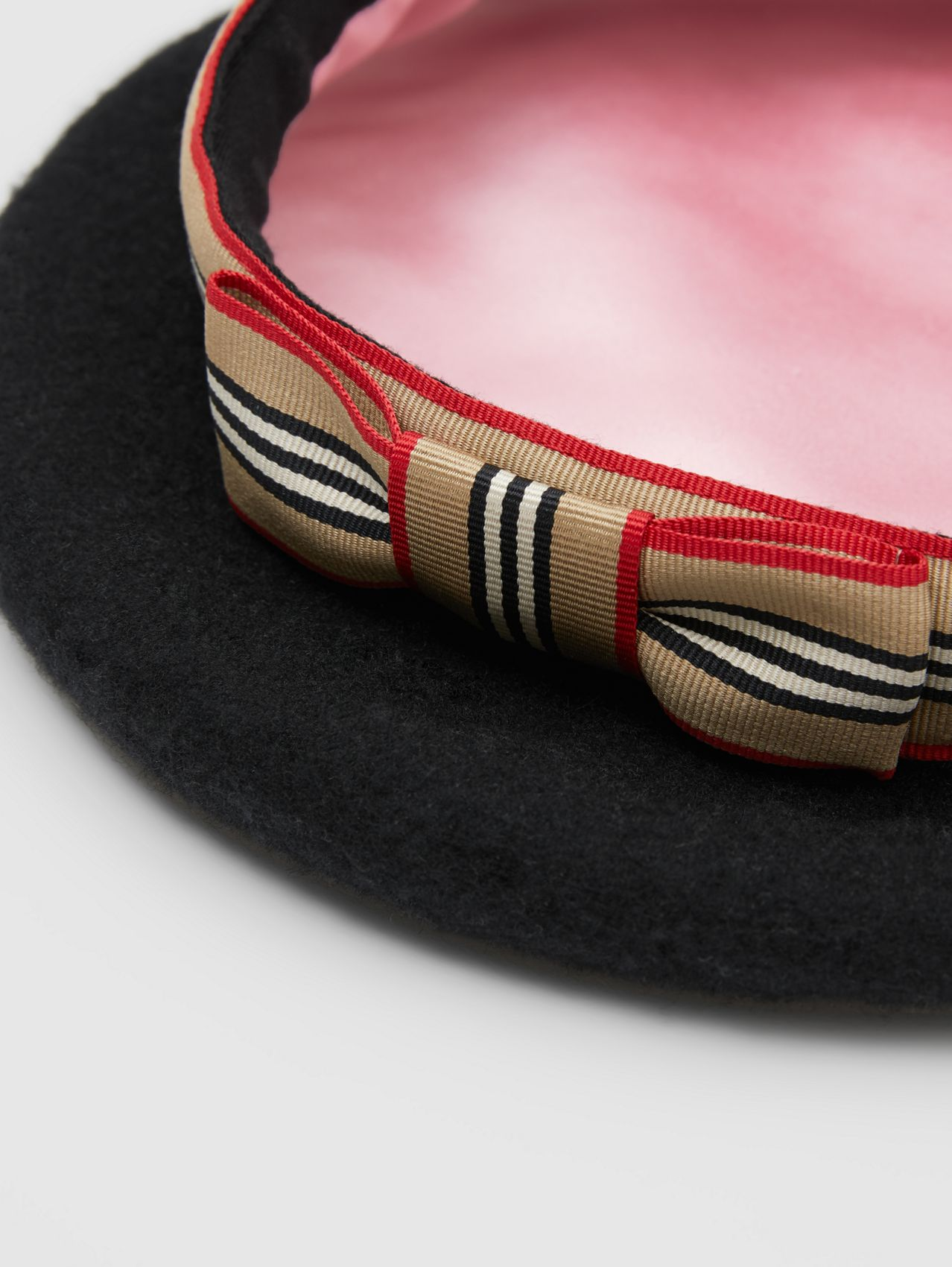 Icon Stripe Bow Wool Blend Beret