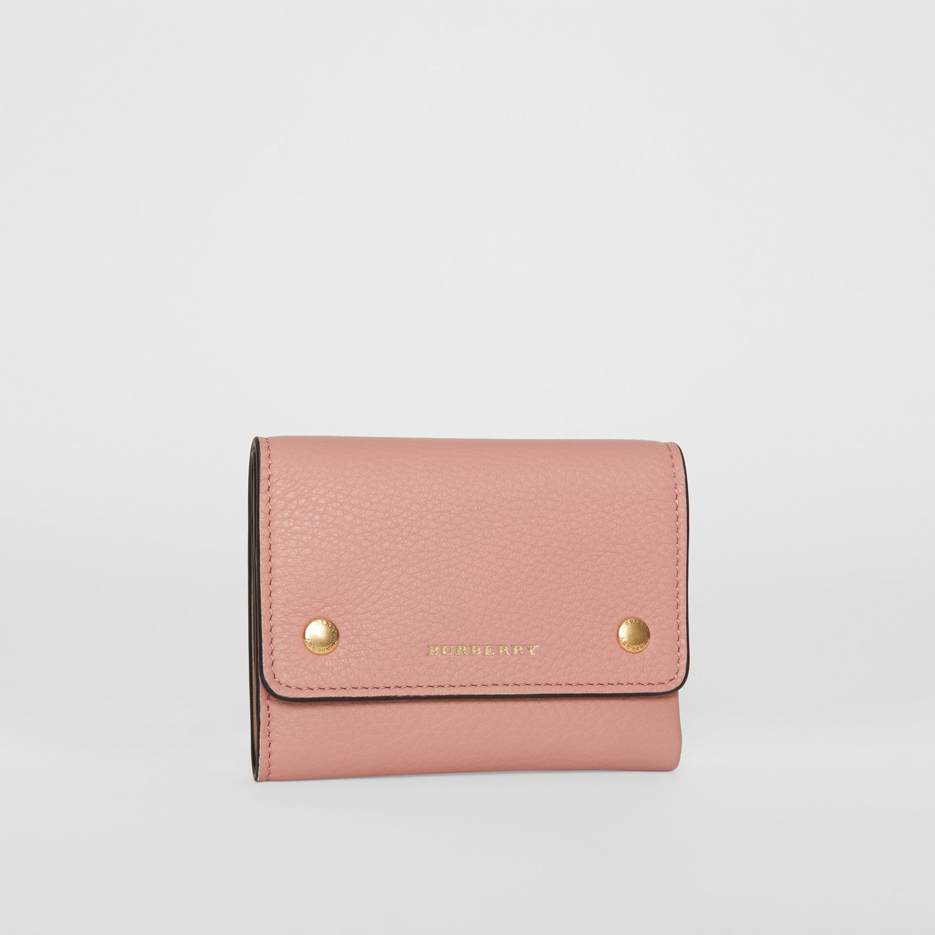 Small Leather Folding Wallet in Ash Rose - Women | Burberry Australia - gallery image 3