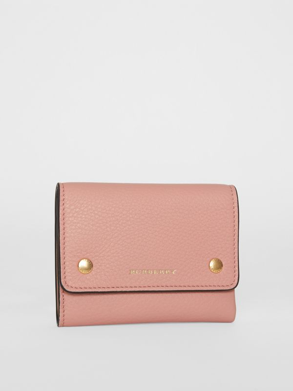 Small Leather Folding Wallet in Ash Rose - Women | Burberry Australia - cell image 3