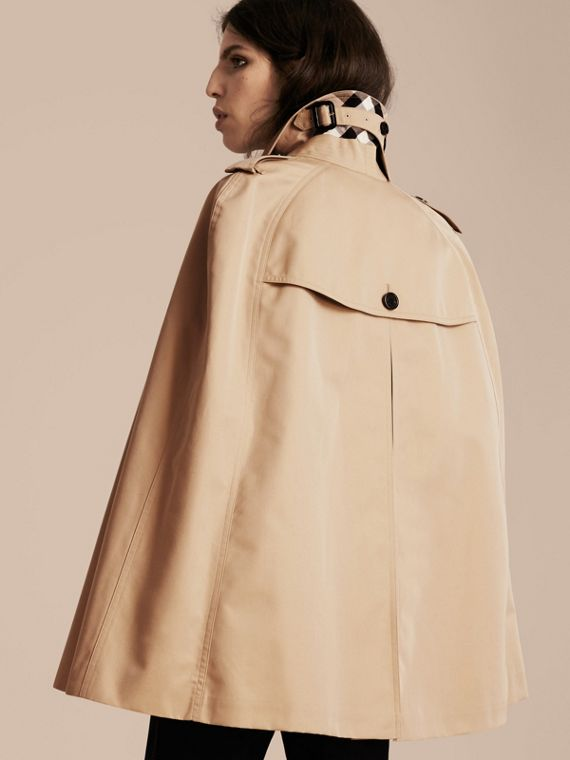 Honey Cotton Gabardine Trench Cape Honey - cell image 2