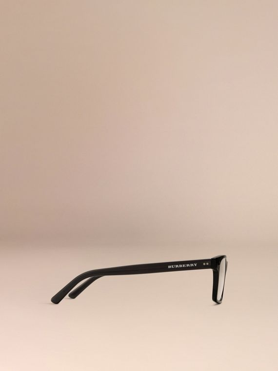Black Rectangular Optical Frames Black - cell image 3