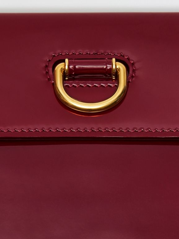 D-ring Patent Leather Pouch with Zip Coin Case in Crimson - Women | Burberry - cell image 1