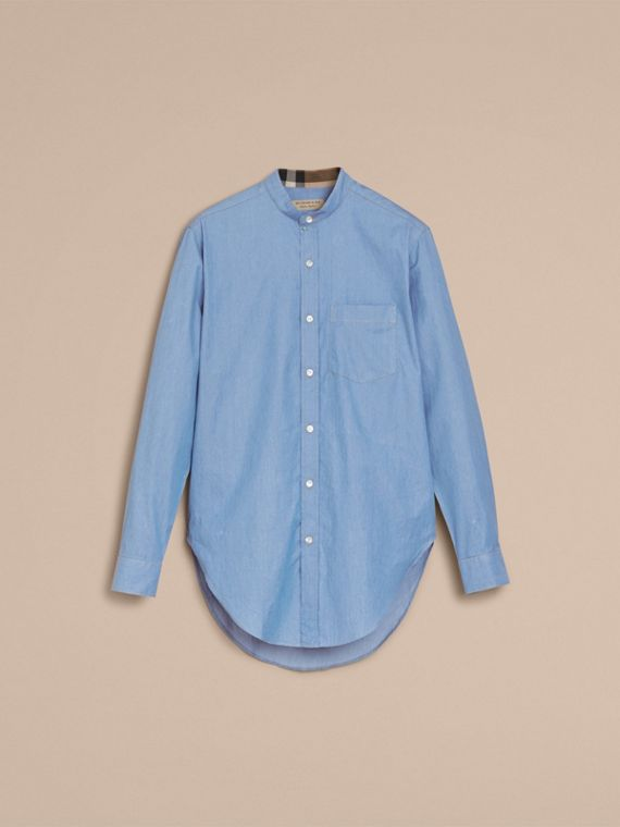 Grandad Collar Denim Shirt - cell image 3