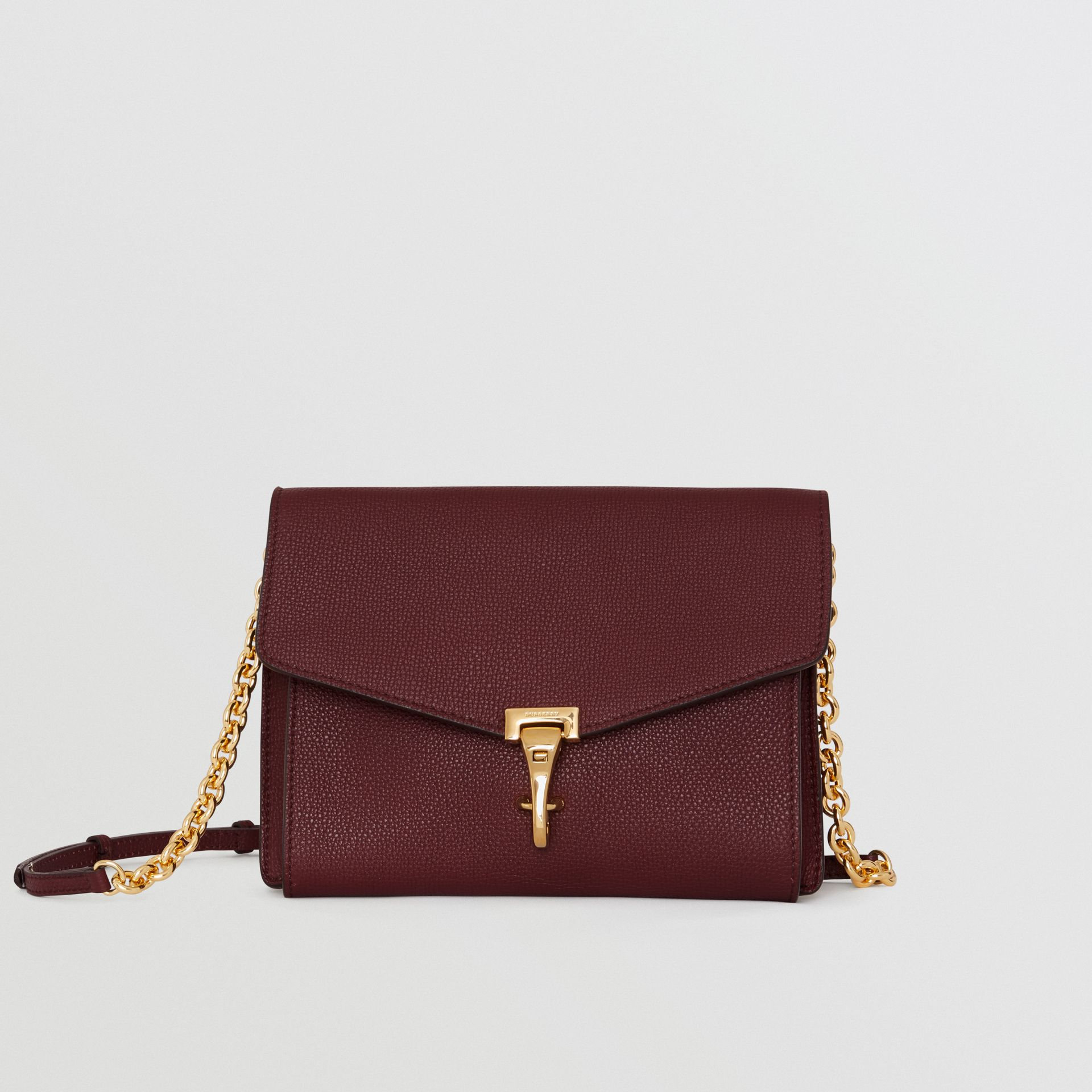 Small Leather Crossbody Bag in Mahogany Red - Women | Burberry United States - gallery image 0
