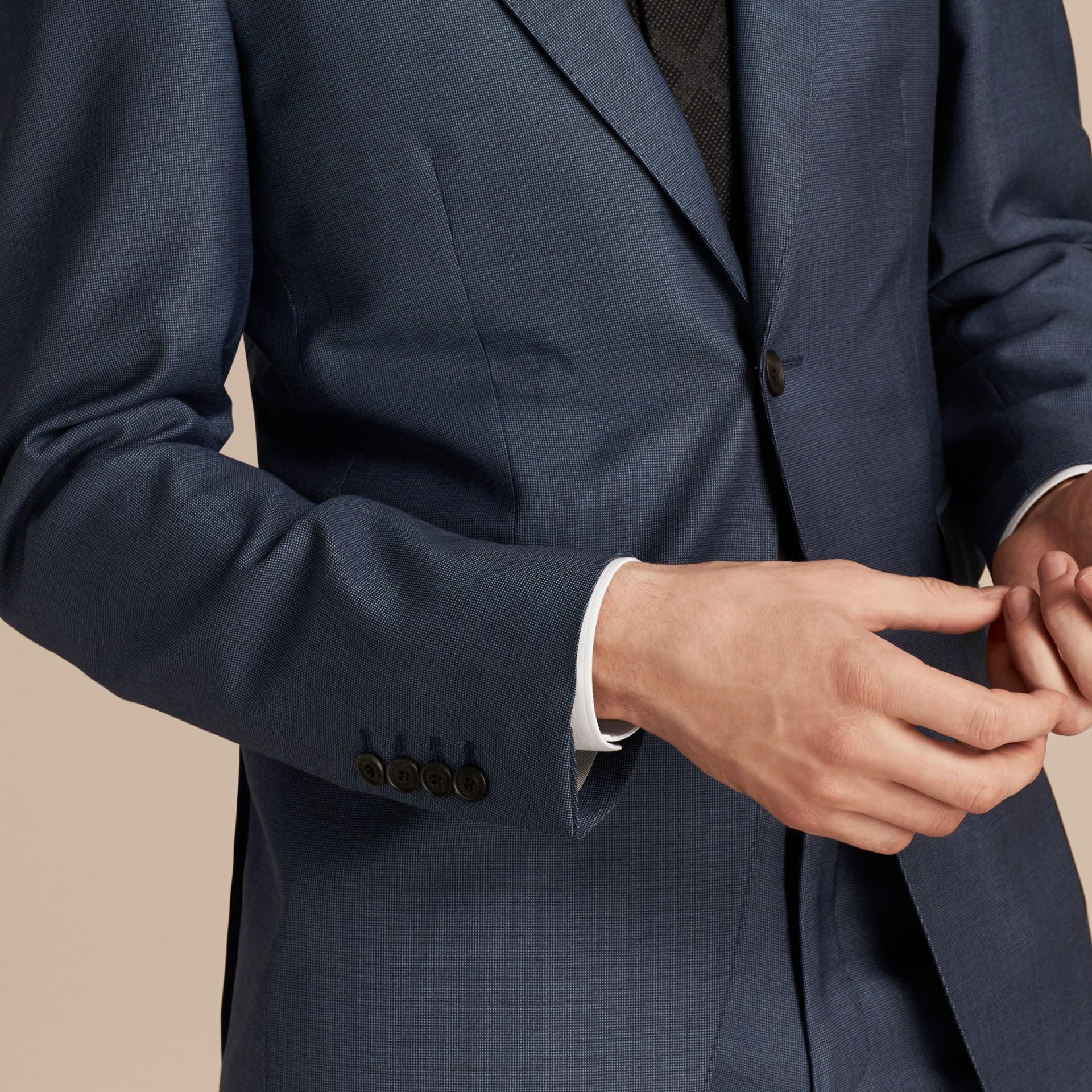 Blu avio Abito Travel Tailoring dal taglio moderno in lana - immagine della galleria 5