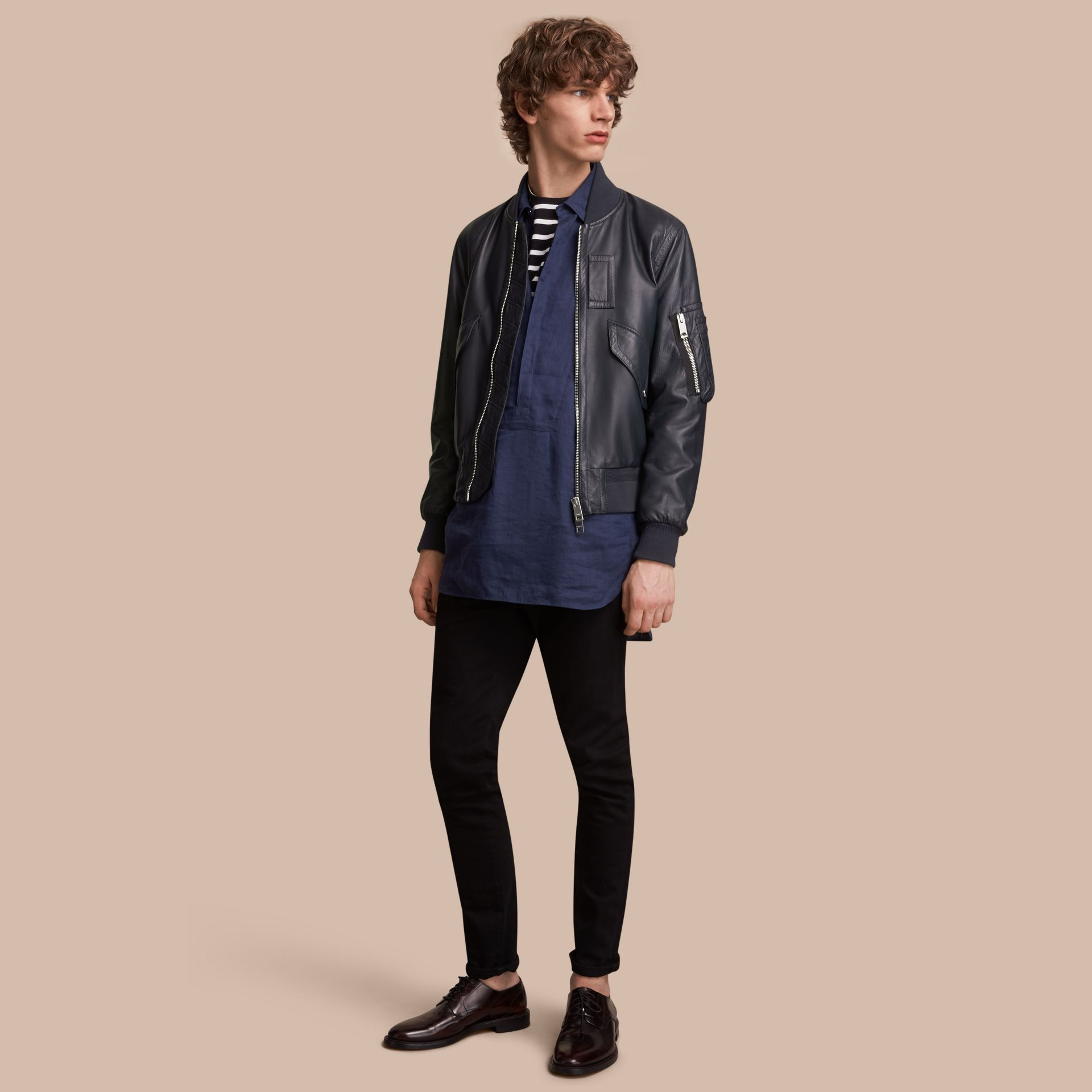 Lambskin Bomber Jacket - Men | Burberry - gallery image 1