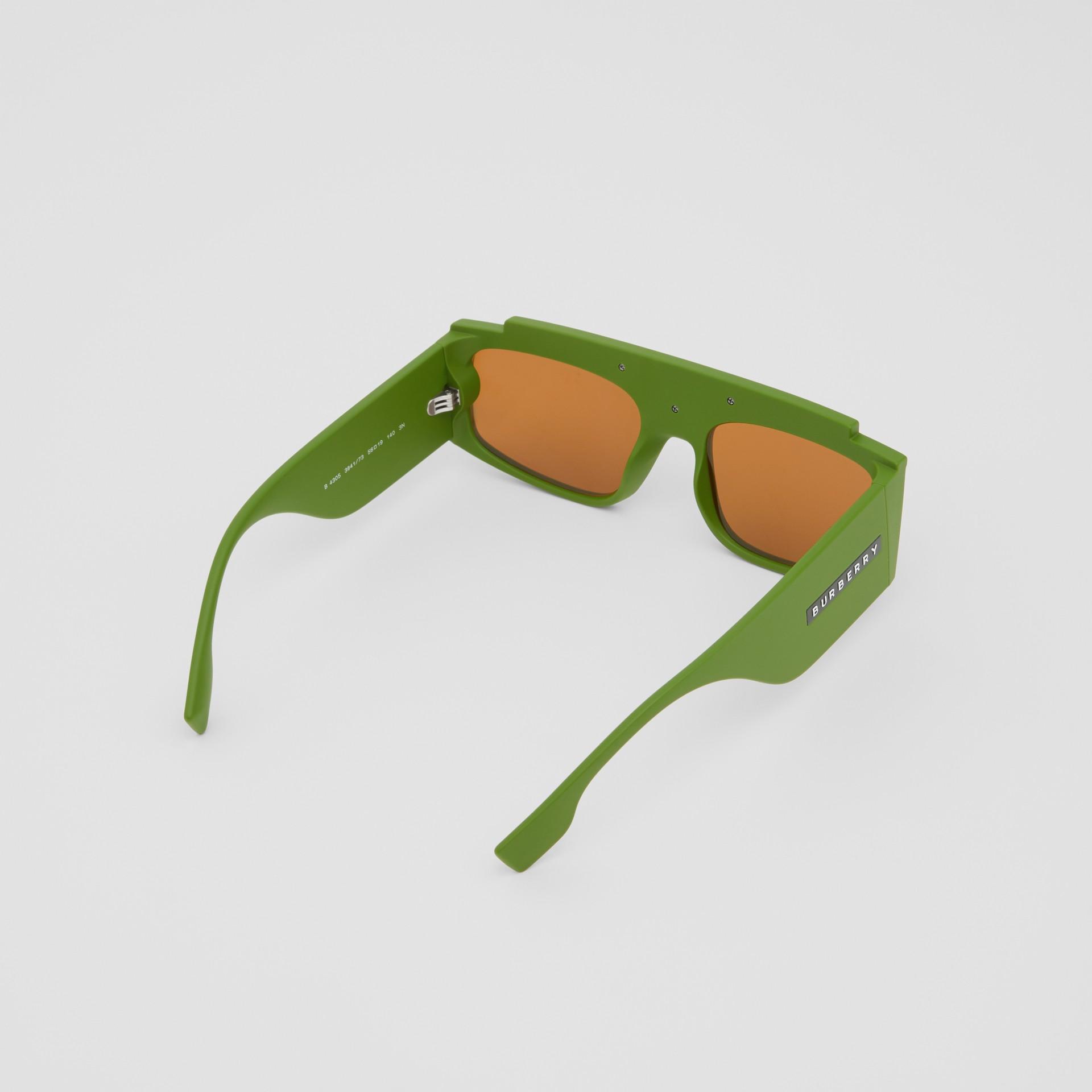 Rectangular Frame Sunglasses in Green - Women | Burberry - gallery image 4