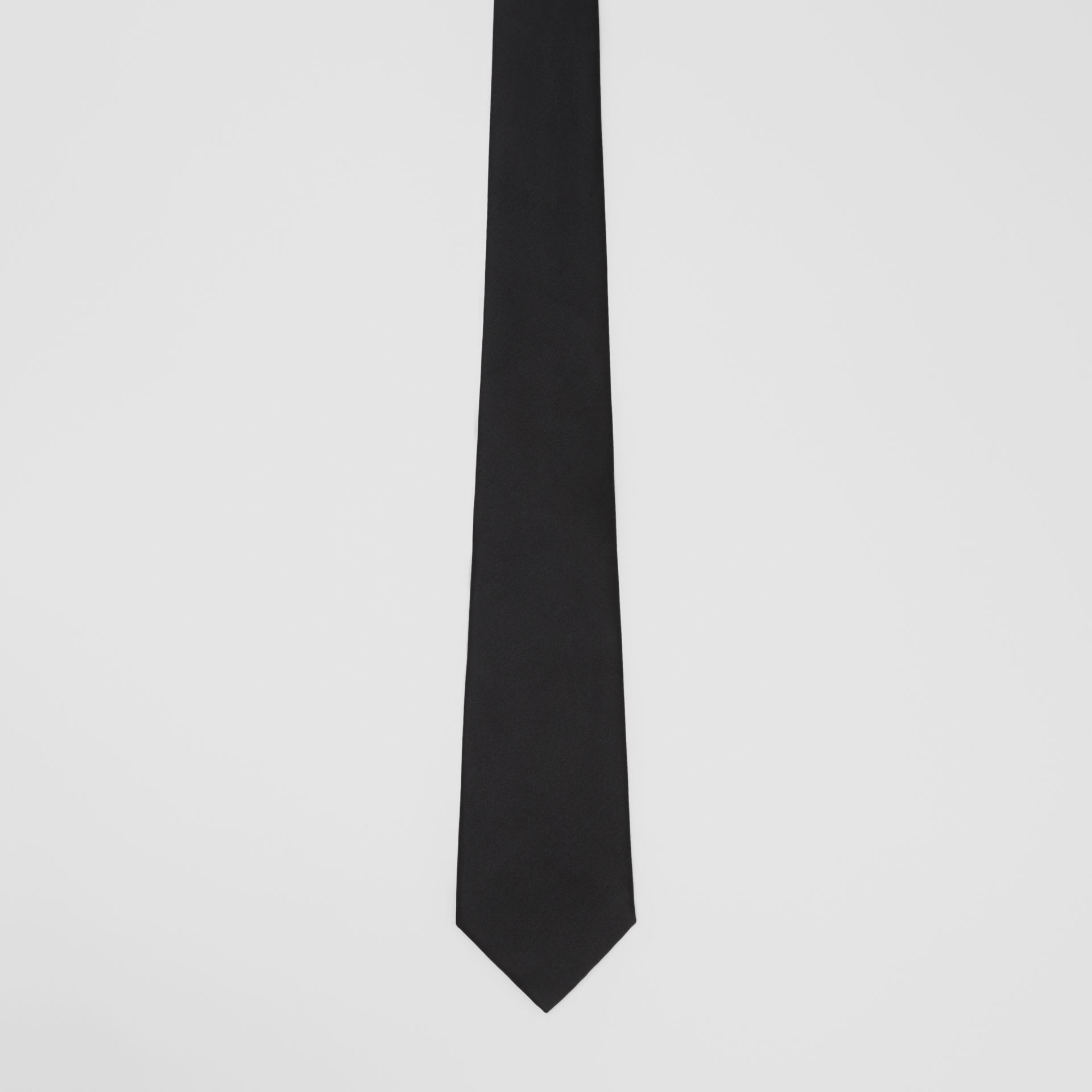 Classic Cut Silk Tie in Black | Burberry United States - gallery image 3