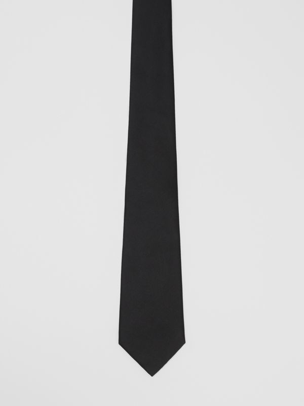 Classic Cut Silk Tie in Black | Burberry United States - cell image 3