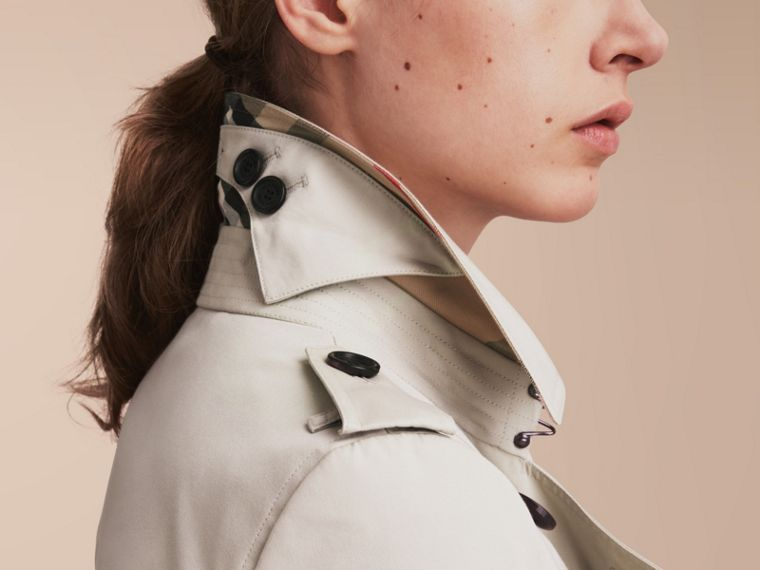 The Chelsea – Extra-long Heritage Trench Coat in Stone - cell image 4