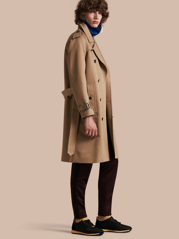 Raglan-sleeved Cotton Trench Coat