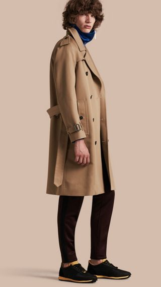 Trench-coat en coton à manches raglan