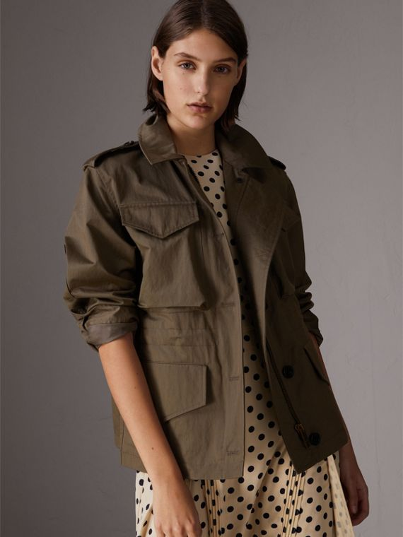 Showerproof Field Jacket in Dark Olive