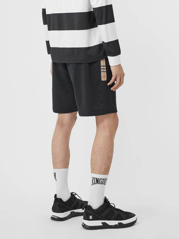 Vintage Check Trim Technical Twill Shorts in Black - Men   Burberry - cell image 2
