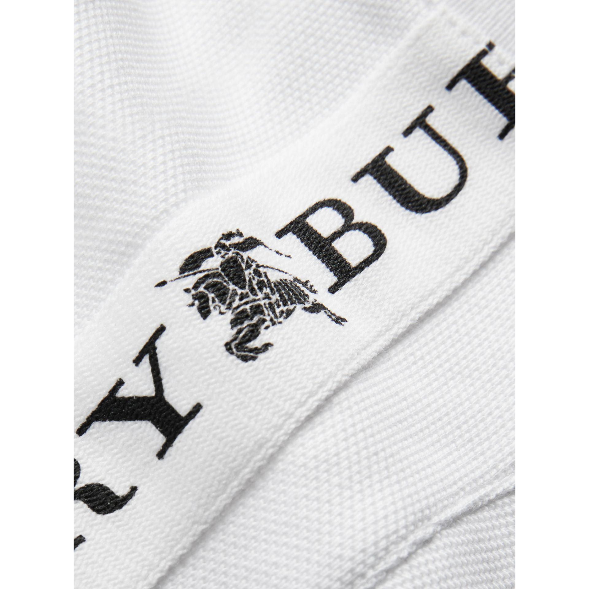 Logo Detail Tipped Cotton Polo Dress in White - Children | Burberry United States - gallery image 1