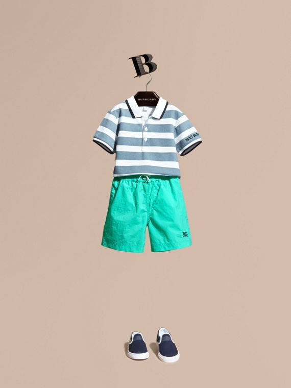 Lightweight Swim Shorts in Aqua Green - Boy | Burberry