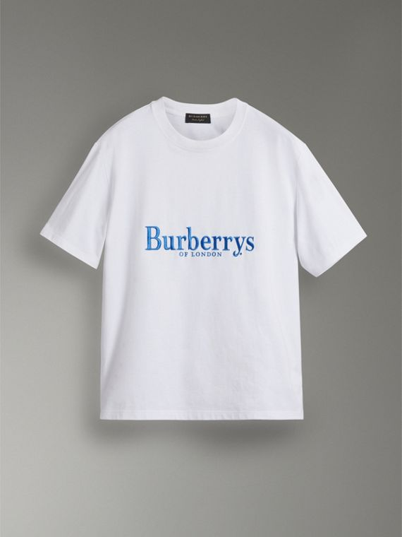 Reissued Cotton T-shirt in White - Women | Burberry - cell image 3