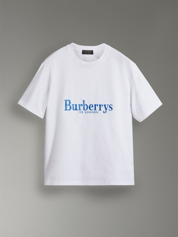 Reissued Cotton T-shirt in White - Women | Burberry Australia - cell image 3
