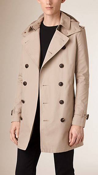 Trench coat in cotone