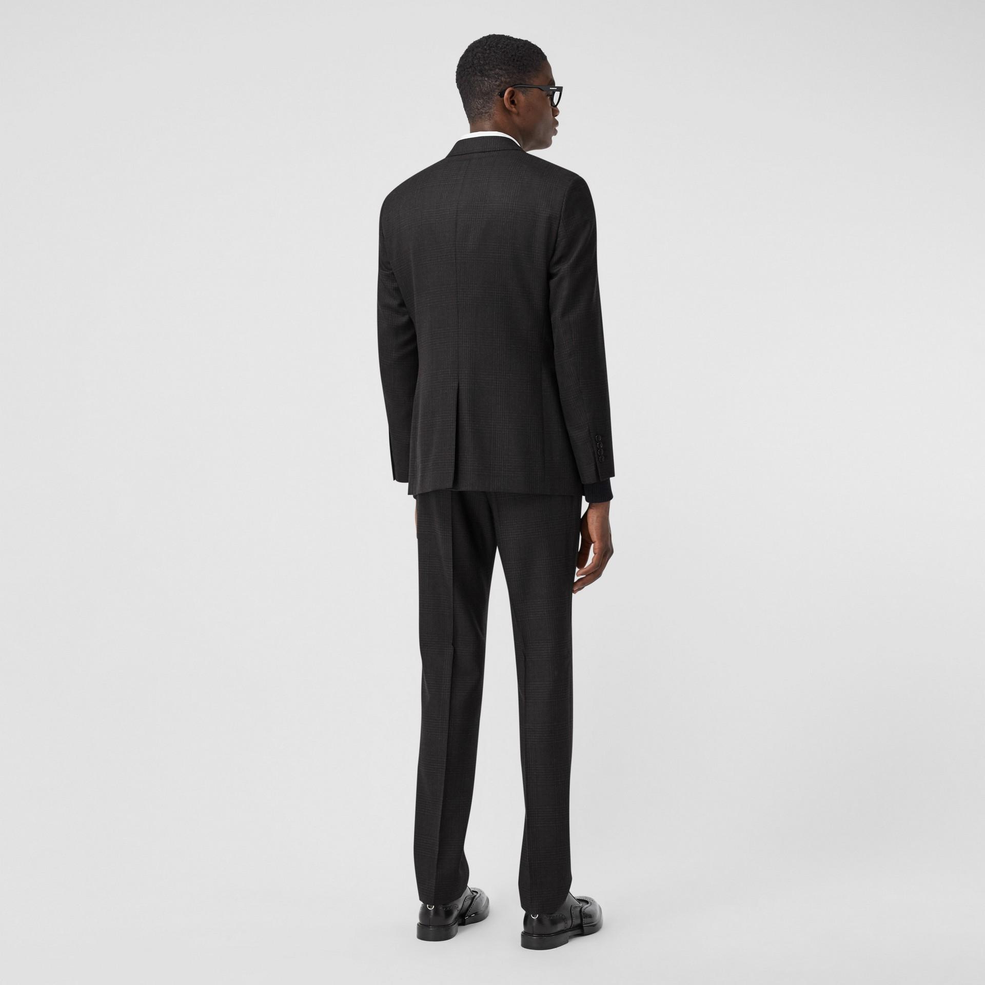 スリムフィット プリンス オブ ウェールズ チェック ウールスーツ (ダークグレー) - メンズ | バーバリー - ギャラリーイメージ 2
