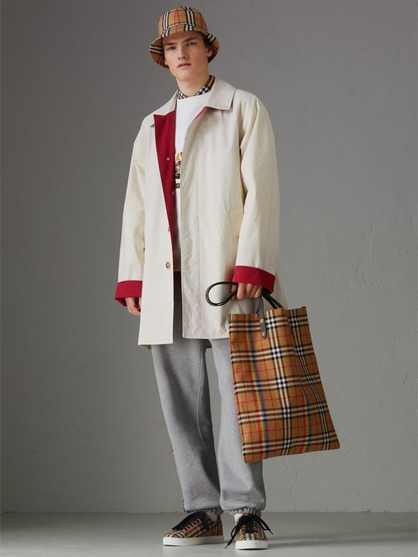 Large Rainbow Vintage Check Shopper in Dark Grey | Burberry - cell image 3