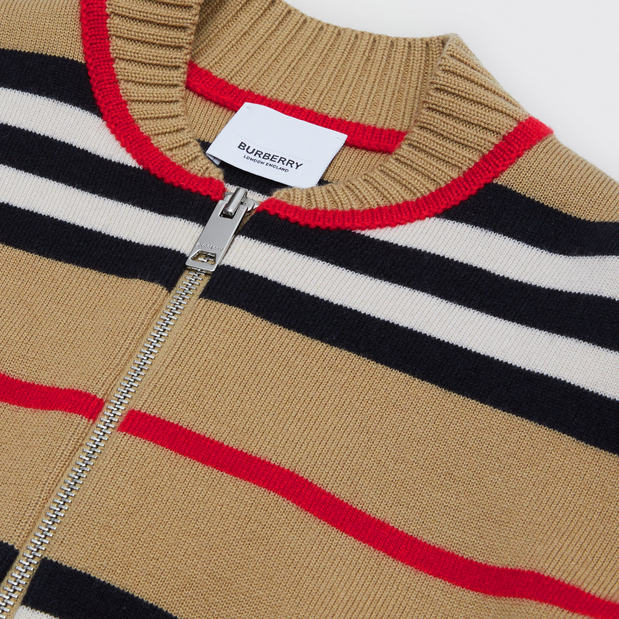 Icon Stripe Wool Cashmere Blend Cardigan | Burberry - 2