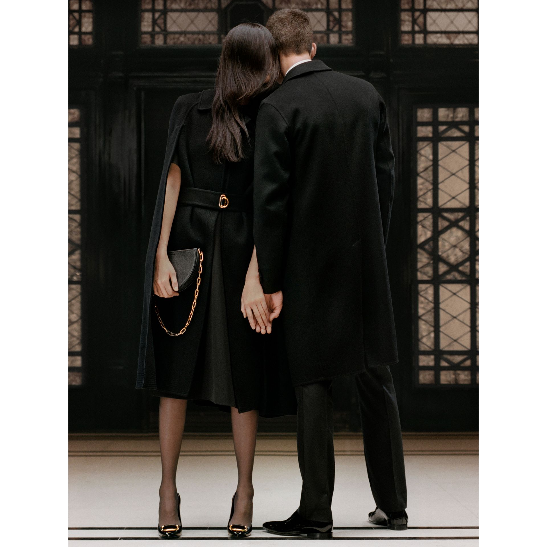 Cashmere Tailored Coat in Black - Men | Burberry - gallery image 5