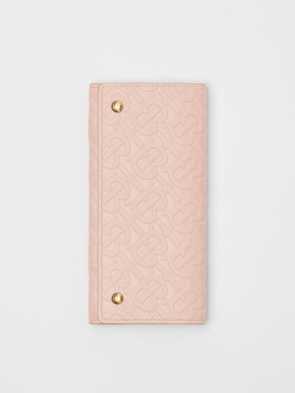Monogram Leather Continental Wallet in Rose Beige - Women | Burberry United Kingdom - cell image 2