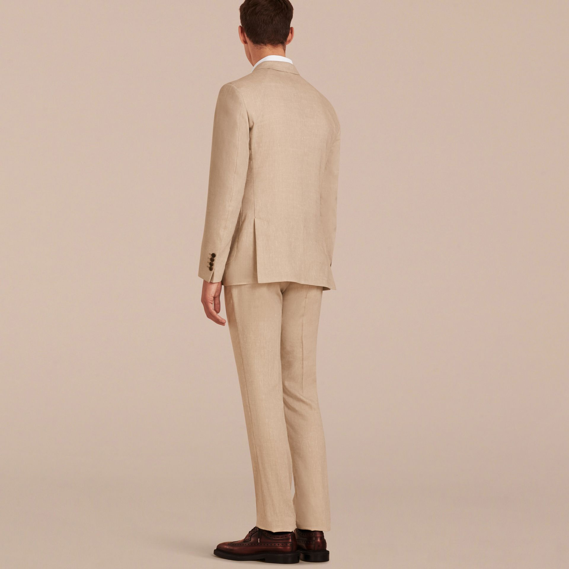 Modern Fit Travel Tailoring Linen Cashmere Wool Suit - Men | Burberry - gallery image 3
