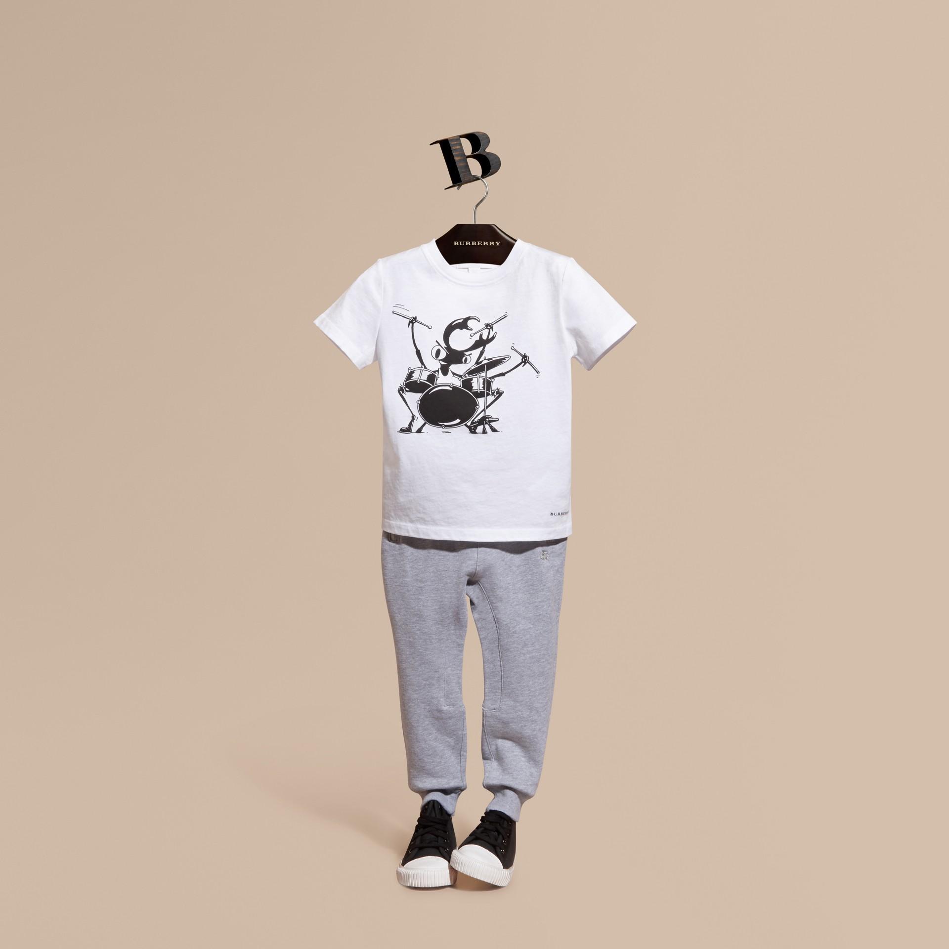 Grigio medio mélange Pantaloni tuta in cotone Grigio Medio Mélange - immagine della galleria 1