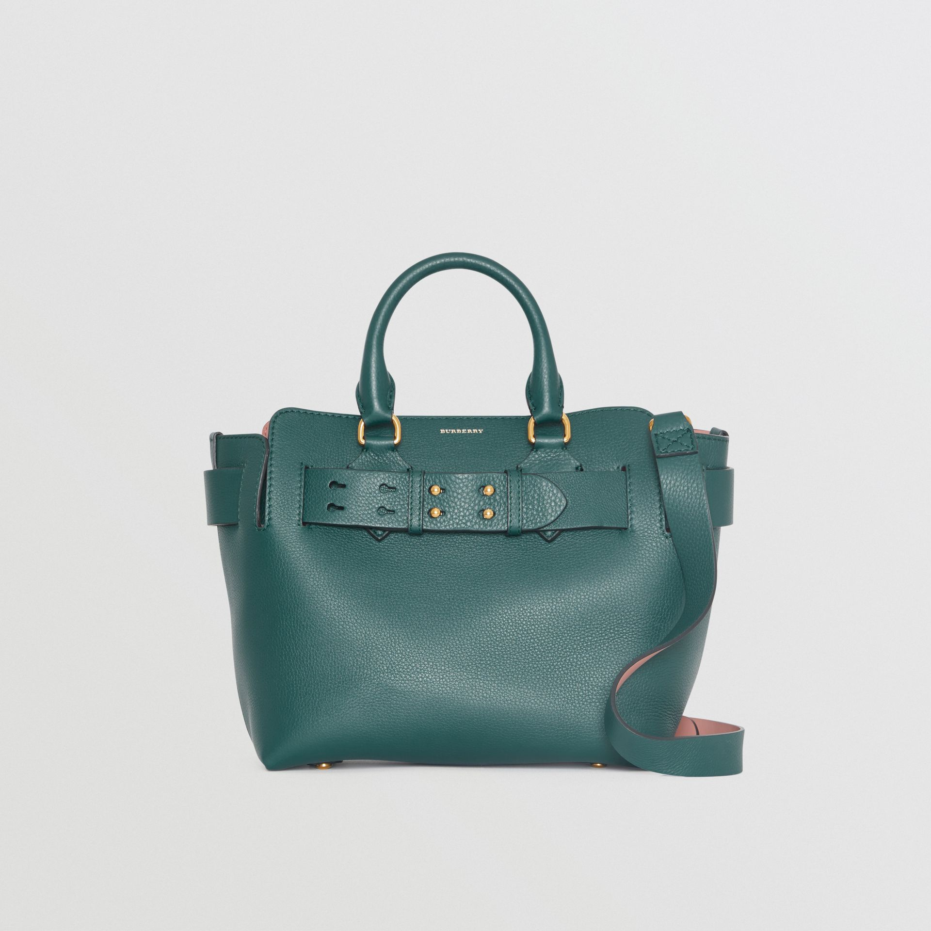 The Small Leather Belt Bag in Dark Cyan - Women | Burberry United Kingdom - gallery image 0