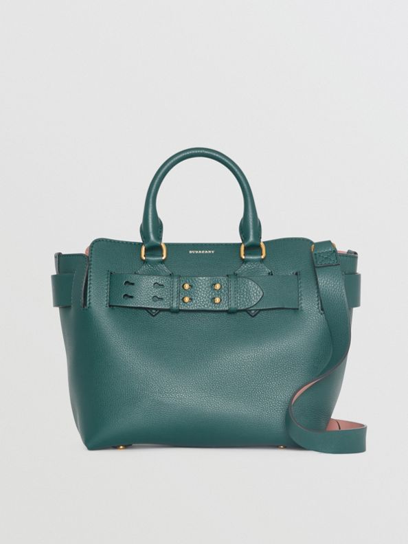 The Small Leather Belt Bag in Dark Cyan